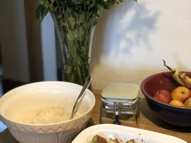 Recipe – Rhubarb & Pear Crumble